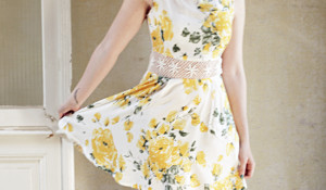 yellow floral.