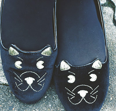 cat ballerinas.