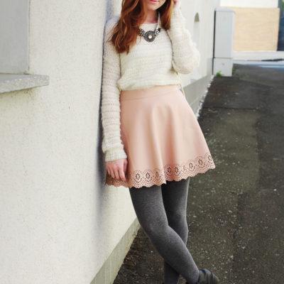 Outfit: Weiß, Rosa und ein Hauch von Grau…
