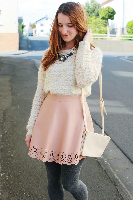 Outfit wei rosa und ein hauch von grau always like for Rosa kombinieren