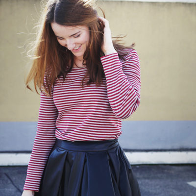 Outfit: Red Stripes