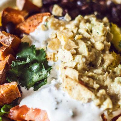 Rezept: Süßkartoffel-Nacho-Bowl